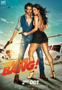 """Here's one of the movie posters for """"Bang Bang!"""""""